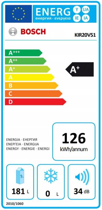 Energielabel KIR20V51