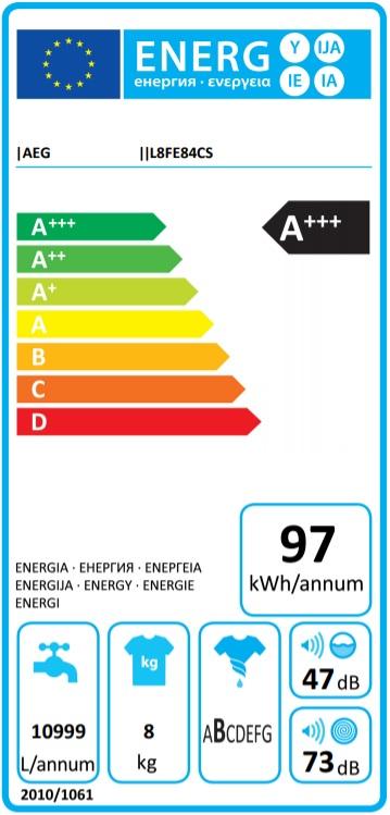Energielabel L8FE84CS