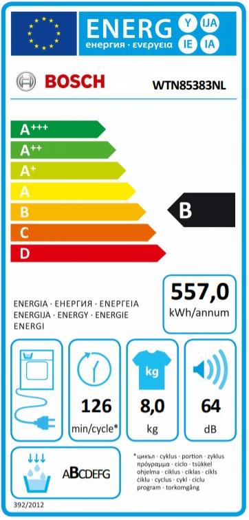 Energielabel WTN85383NL