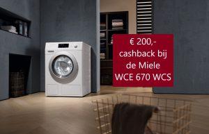 Miele cashback actie WCE 670 €200,-