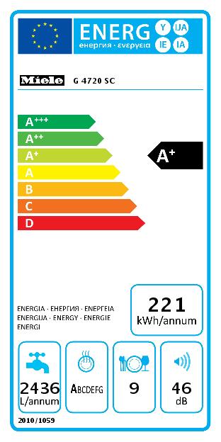Miele G 4720 SC Vaatwasser