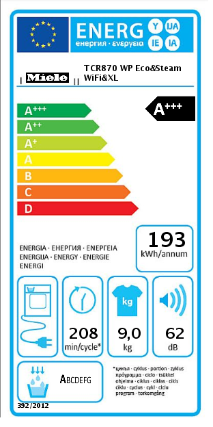 Miele TCR870 WP Eco&Steam WiFi&XL Droger