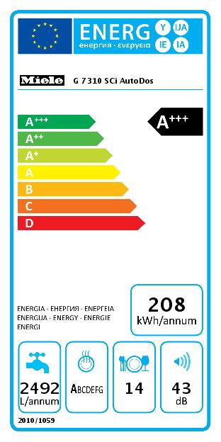 Miele G 7310 SCi AutoDos Vaatwasser