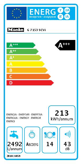 Miele G 7153 SCVi Vaatwasser