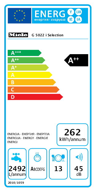 Miele G 5022 i Selection inbouw vaatwasser
