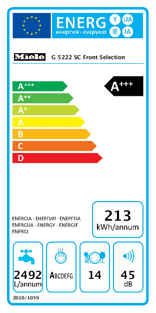Miele G 5222 SC Front Selection vrijstaande vaatwasser