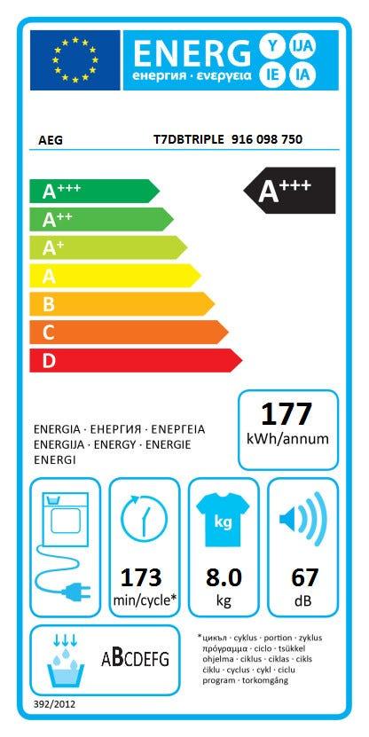 AEG T7DBTRIPLE Warmtepomp droger