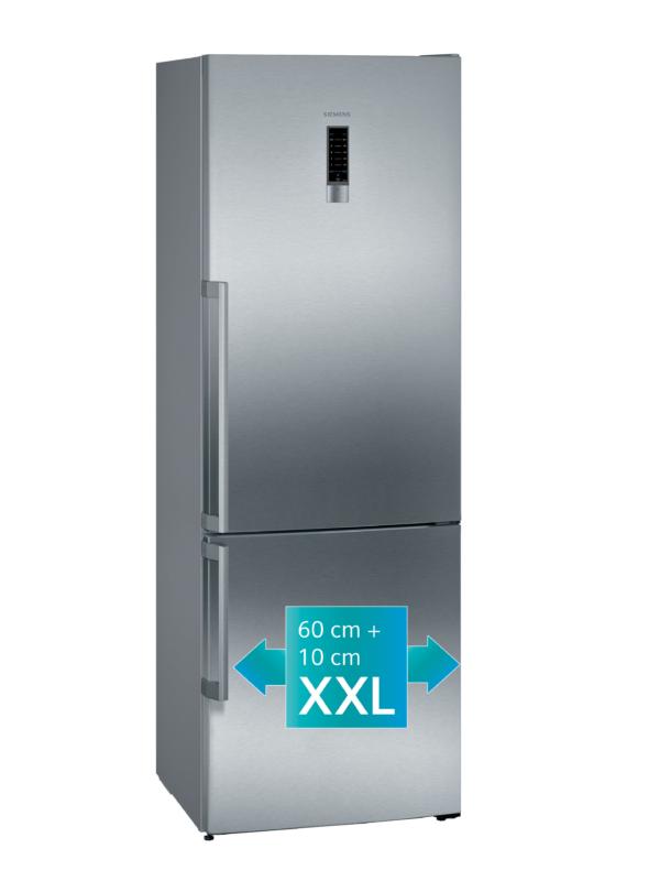 Siemens KG49NEIDP iQ300 Vrijstaande koel-vriescombinatie 203 x 70 cm rvs